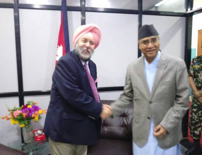 Amb Puri calls On PM Deuba1.jpg