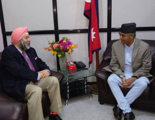 Amb Puri calls On PM Deuba2.jpg