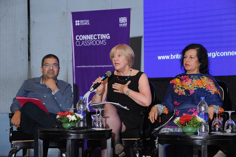 "Ann (in middle)  presenting during a Policy Dialogue on ""Embedding International Dimension in the Curriculum"" (1).JPG"