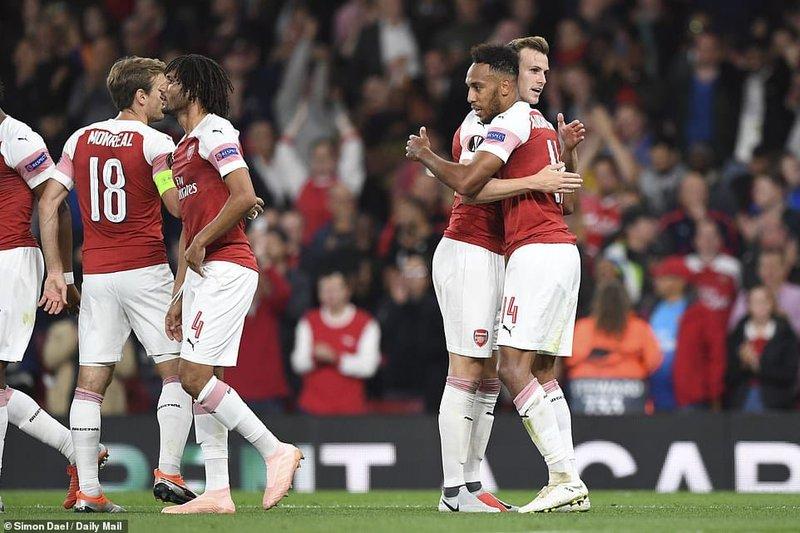 Arsenal Thrash Vorskla Poltava To Extend Winning Run To Four
