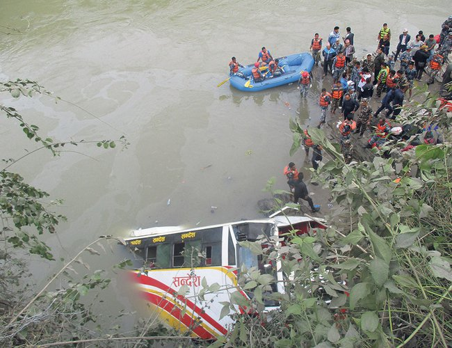 Thirty-One Killed In Dhading Road Accident   New Spotlight Magazine