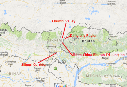 Bhutan-China and India Trijuncture.png
