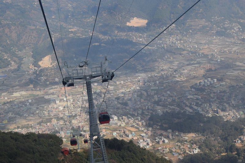 Chandra Giri cable car.JPG