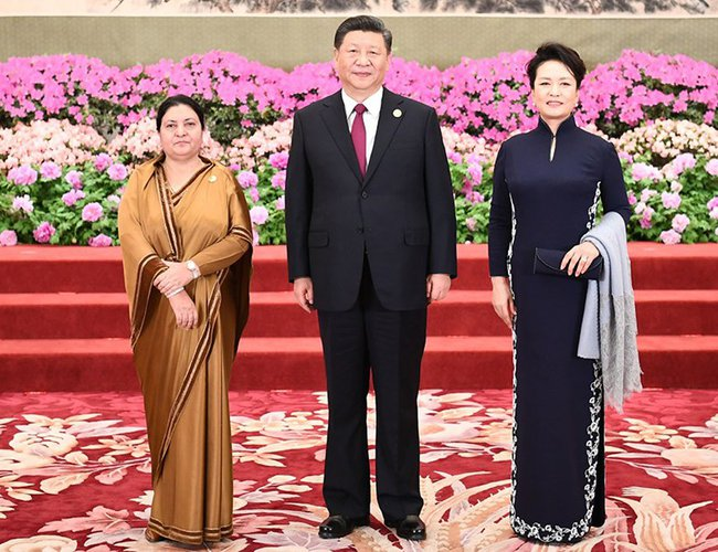 Image result for chinese president visiting nepal