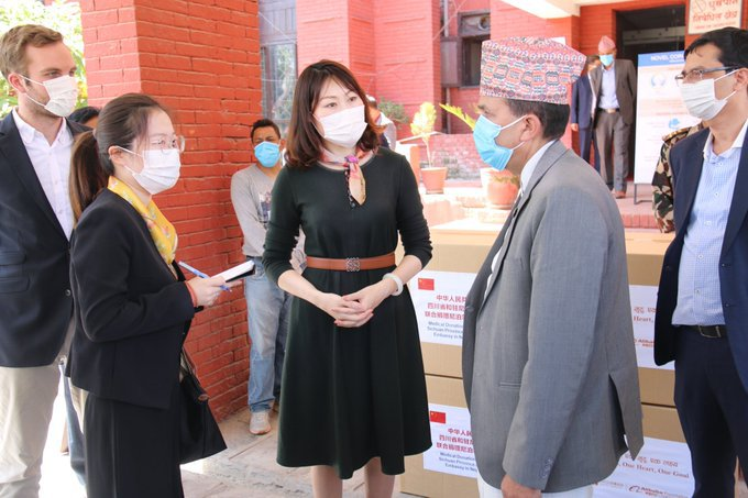 Chinese ambassador to Nepal handed over materials.jpg