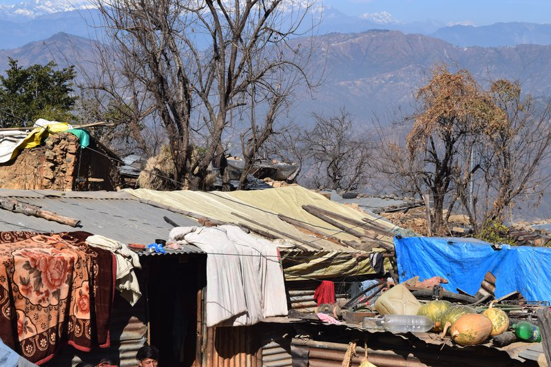 Earthquake victims in temporary Shelters.JPG