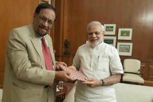 Finance Minister Dr. Mahat Hands Over Invitation To Indian PM