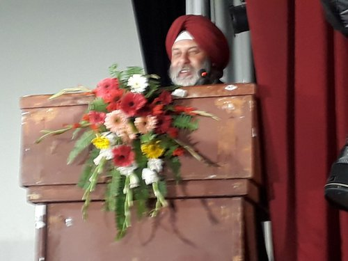 Indian Ambassador to Nepal Puri addresing the program.jpg