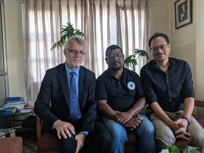 LWF General Secretary Rev. Dr. Martin Junge with LWF Country Director Dr. Prabin Manandhar and other colleague  .jpg