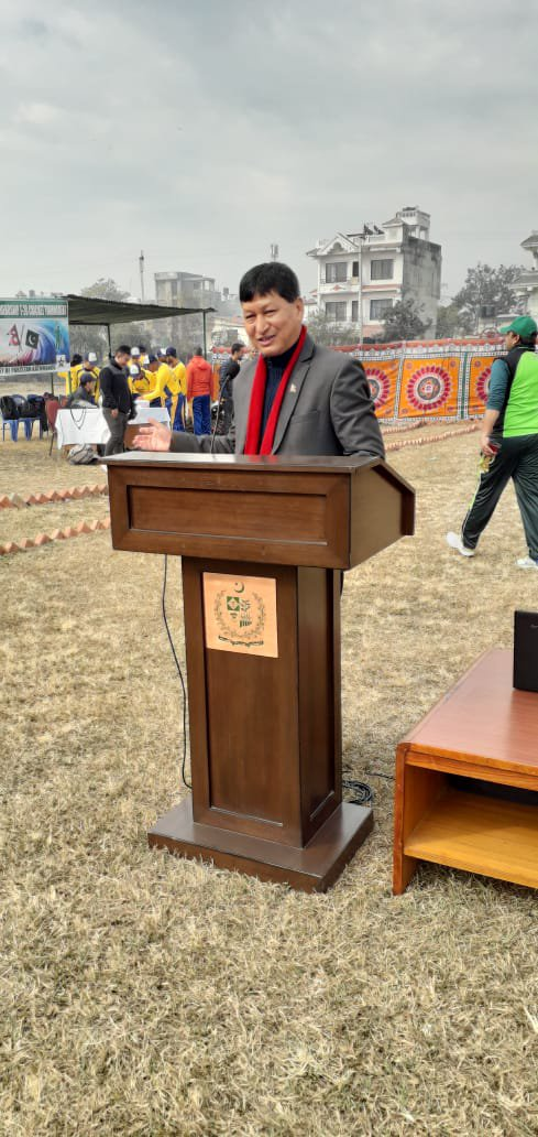 Mayor Shakya addressing program.jpg