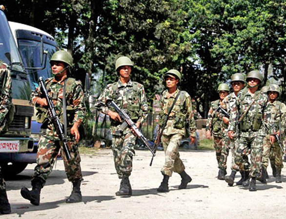 Nepal army is developing personal track route to India border