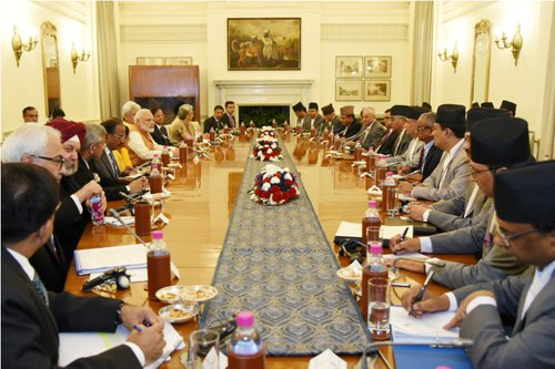 Nepal India high level official meeting.jpg