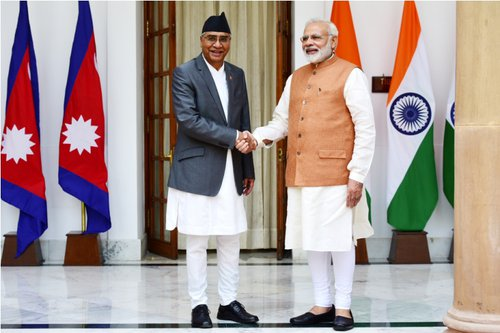 PM Deuba and PM Modi before one to one meet.jpg