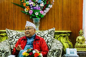 PM OLI'S INDIA VISITOn Easing Tension