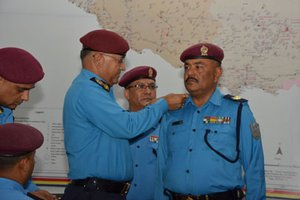 Police Chief Aryal Confers Insignia