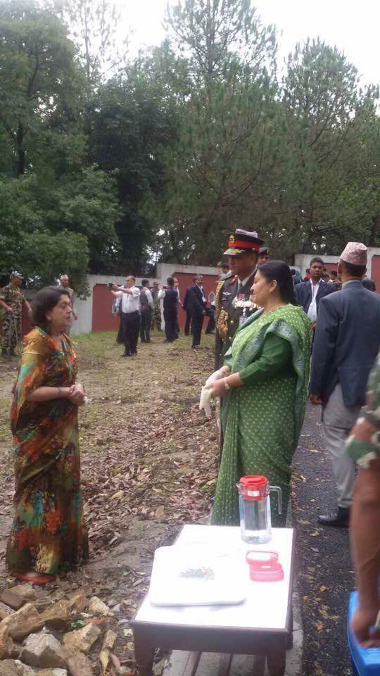 President Bhandari with Chanda Rana.jpg