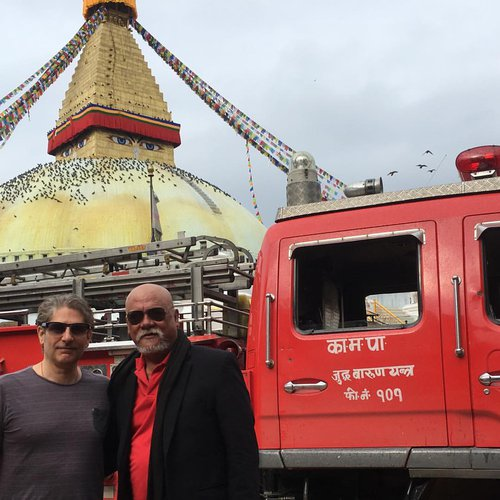 Sunil Thapa and Michael Imperioli in Front of Boudha Stupa.jpg