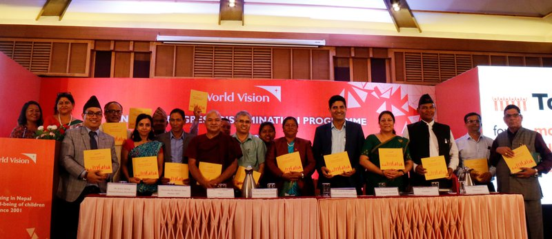 WVIN Country Director along with distinguished guests jointly launch the report at the event..jpg