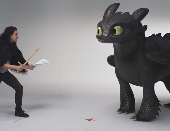 Jon Snow And Toothless Audition In How To Train Your Dragon The